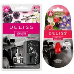 """Deliss автомобильный ароматизатор комплект """"Romance"""" + брелок-фонарик в подарок"""