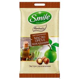 "Smile влажные салфетки ""Herbalis"" с маслом макадамии"