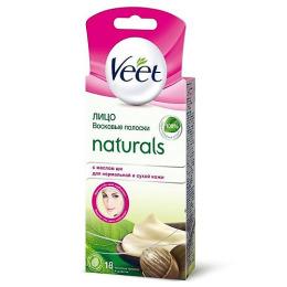 """Veet восковые полоски """"Naturals"""" с маслом ши для чувствительных участков тела"""