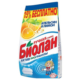 """Биолан порошок стиральный """"Апельсин и лимон"""" ручная стирка"""