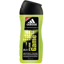 "Adidas гель для душа для тела и волос ""Pure Game"" для мужчин +  ""Intense Clean"" шампунь для мужчин"