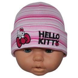 """Hello Kitty шапка детская """"Кокетка"""", размер 48-50"""