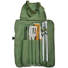 Boyscout набор вилка лопатка щипцы щетка-скребок нож 4 шампура кисточка в чехле
