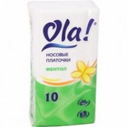 """Silk Sense платочки трехслойные  """"Ментол"""" 10 шт"""