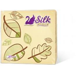 Silk Sense салфетки сервировочные декор, кремовые, 20 шт