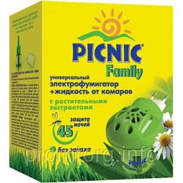 """Picnic электрофумигатор + жидкость от комаров """"Family. 45 ночей."""""""