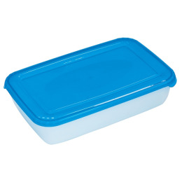 """Plast Team емкость для хранения пищевых продуктов """"Рolar"""" голубая, прямоугольная"""