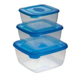 """Plast Team набор емкостей для хранения пищевых продуктов """"Рolar"""" 3шт"""