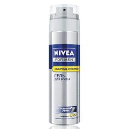"""Nivea гель для бритья """"Заряд энергии"""""""