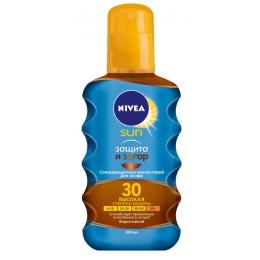 """Nivea Sun масло-спрей солнцезащитное для загара """"Защита и загар"""" сзф 30"""