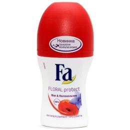 "Fa дезодорант-антиперспирант ""Floral protect. Мак и колокольчик"" ролик"