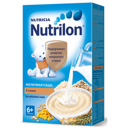 """Nutrilon каша молочная """"4 злака"""""""