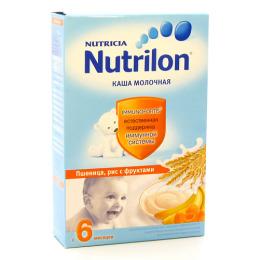 """Nutrilon каша молочная """"Пшеница, рис, фрукты"""""""