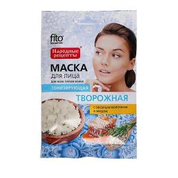 """Фитокосметик маска для лица """"Народные рецепты. Творожная"""" тонизирующая"""