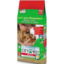 """Cat`s Best наполнитель для кошачьего туалета """"Eko plus"""" древесный, комкующийся"""