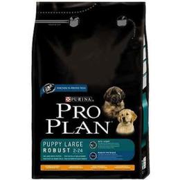 Pro Plan корм для щенков крупных пород, мощного телосложения, курица рис