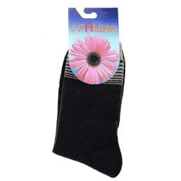 """Грация носки женские """"H 002"""" черные"""