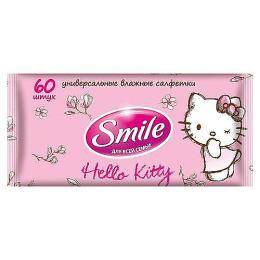 "Smile влажная салфетка ""Hello Kitty"" универсальные"