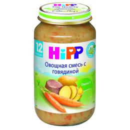 """Hipp пюре """"Овощная смесь с говядиной"""" с 12 месяцев, 220 г"""