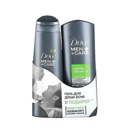"""Dove набор  шампунь """"Свежесть ментола"""" мужской 250 мл + гель для душа """"Men Care"""" для чувствительной кожи 250 мл"""