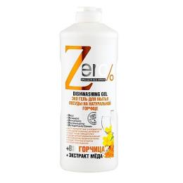 """Zero эко гели """"На натуральной горчице"""" для мытья посуды, 500 мл"""