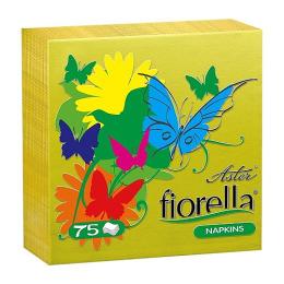 "Aster cалфетки ""Fiorella"" 24 х 24 см 1-слойные желтые"