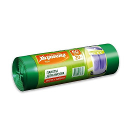 Хозяюшка Мила пакеты для мусора 60 л в рулоне, 20 шт