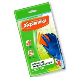 """Хозяюшка Мила перчатки латексные """"Эконом"""" размер L, 1 шт"""