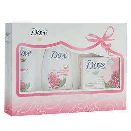 """Dove набор """"Пробуждение чувств"""" дезодорант аэрозоль женский 150 мл + крем-гель для душа 250мл + крем-мыло 135 г"""