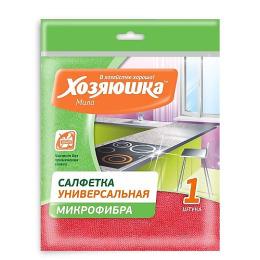 Хозяюшка Мила салфетка для ежедневной уборки универсальная, микрофибра 30 х 30 см, 1 шт