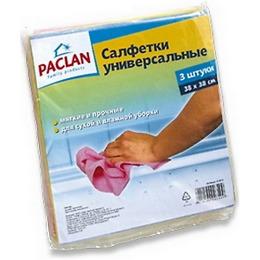 """Paclan салфетки для чистки """"Practi"""" нетканное полотно 38 х 38 см, 3 шт"""