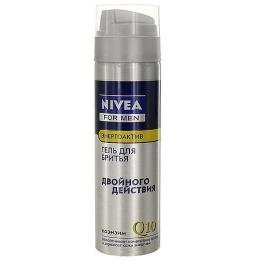 "Nivea гель для бритья ""Энергоактив Q10"", 200 мл"