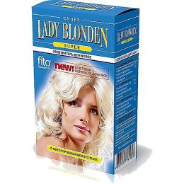 """Фитокосметик осветлитель для волос """"Lady Blonden Super"""" с фитопорошком белого льна"""