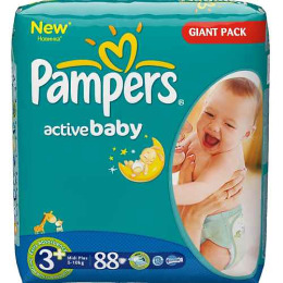 Pampers Active Baby 3+ (5-10 кг)