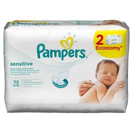 """Pampers салфетки детские влажные """"Sensitive"""" сменный блок"""
