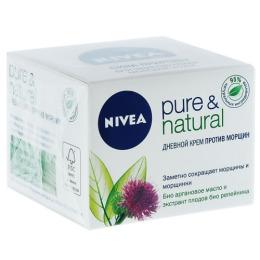 """Nivea дневной крем """"Pure&natural"""" против морщин в пленке"""