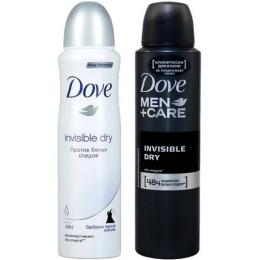 """Dove антиперспирант """"Невидимый"""" спрей для женщин 150 мл + антиперспирант """"Экстразащита"""" без белых следов спрей для женщин 150 мл"""