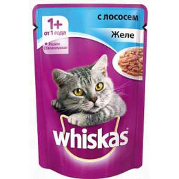 "Whiskas корм в желе ""Лосось"""