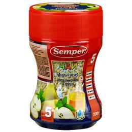 """Semper чай для детей """"Добрый Вечер"""" мята, лимон, груша с 5-ти месяцев"""