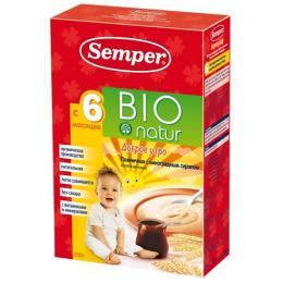Semper каша для детей молочная пшеничная с фруктами БИО