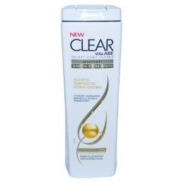 "Clear шампунь ""Баланс жирности кожи головы против перхоти"" для женщин, 400 мл"