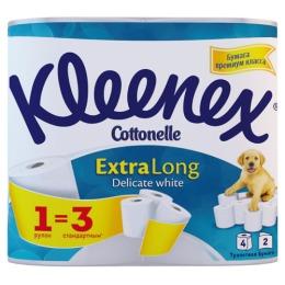 """Kleenex туалетная бумага """"Extra Long"""" двухслойная, 4 шт"""