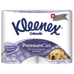 """Kleenex туалетная бумага """"Премиум Комфорт"""" четырёхслойная,  4 шт"""