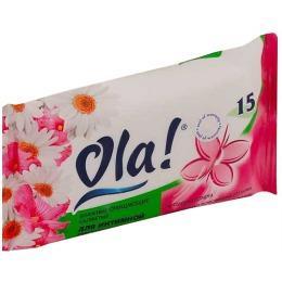 Ola салфетки влажные очищающие для интимной гигиены, 15 шт