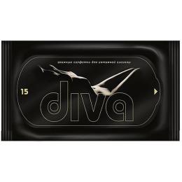 Diva салфетки влажные для интимной гигиены, 15 шт