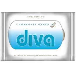 Diva салфетки влажные для интимной гигиены, 20 шт