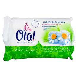 """Ola салфетки влажные """"Солнечная ромашка"""" очищающие для интимной гигиены, 15 шт"""