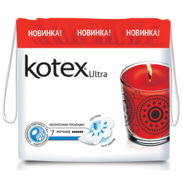 "Kotex прокладки гигиенические ""Ultra Night"" 7 шт"