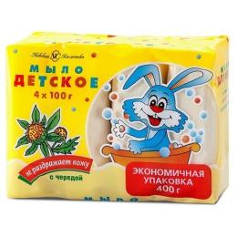 """Невская Косметика туалетное мыло детское """"Череда"""", 4 х 100 г"""