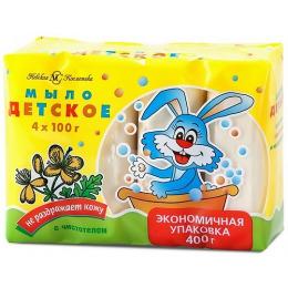 """Невская Косметика туалетное мыло детское """"Чистотел"""", 4 х 100 г"""